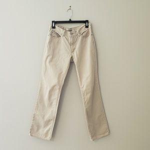 Gap Straight Leg Stone Color Khakis